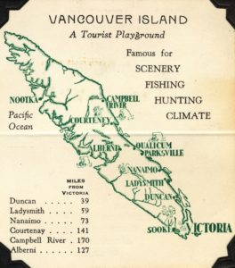 Vancouver Island tourist map