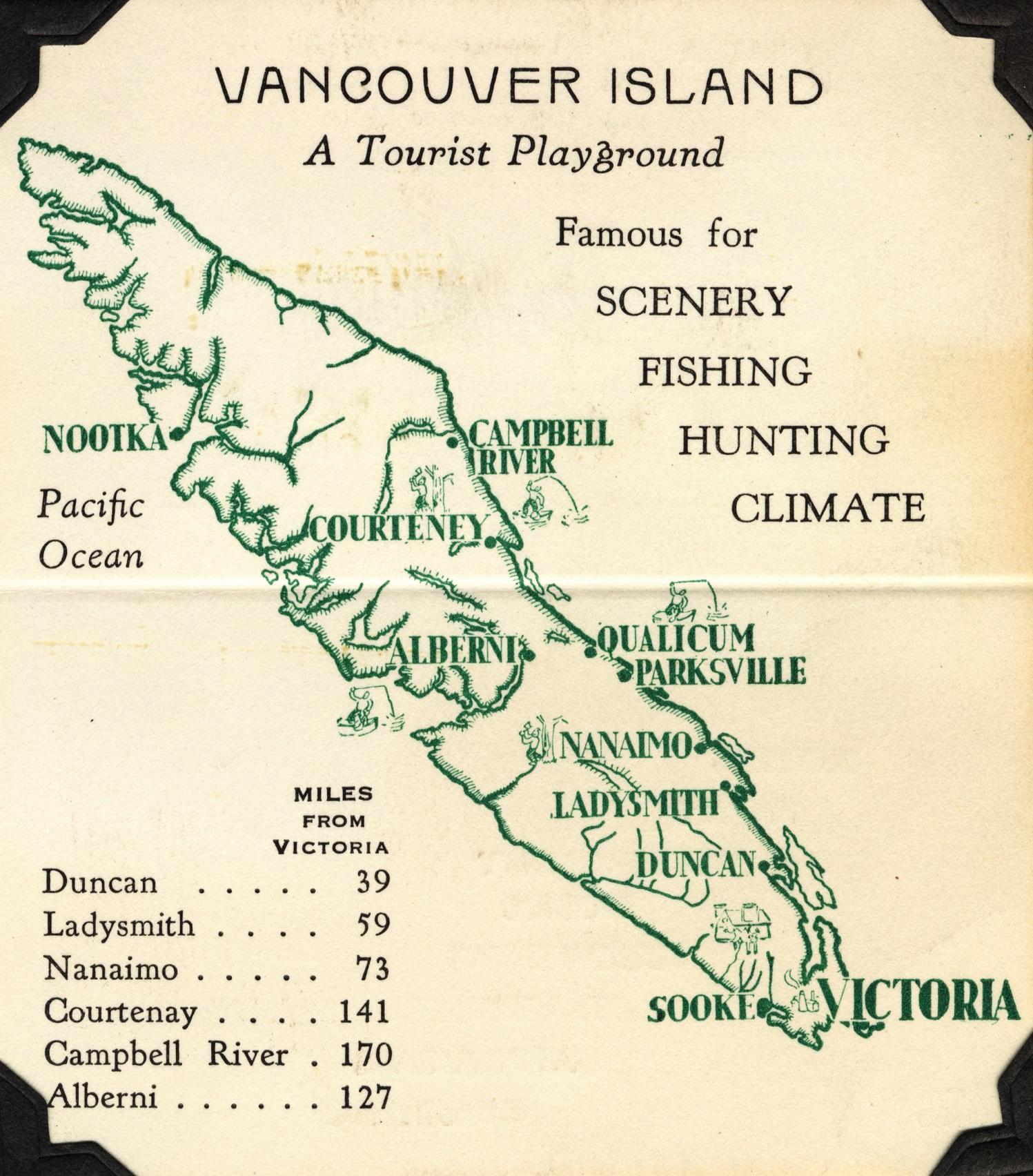 Vancouver Island tourist map